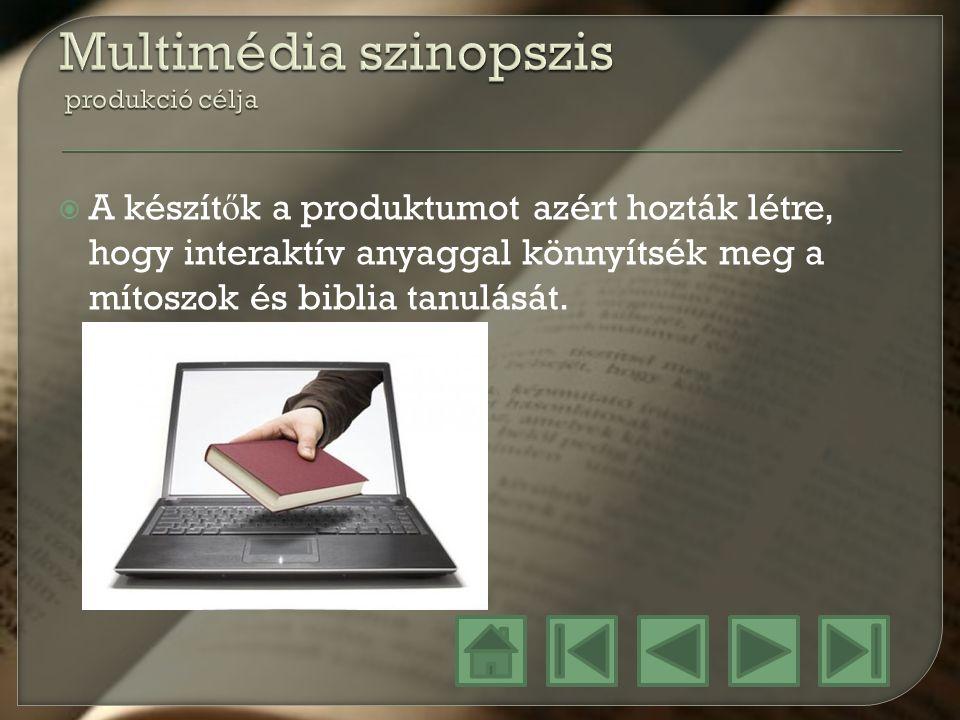 Multimédia szinopszis produkció célja