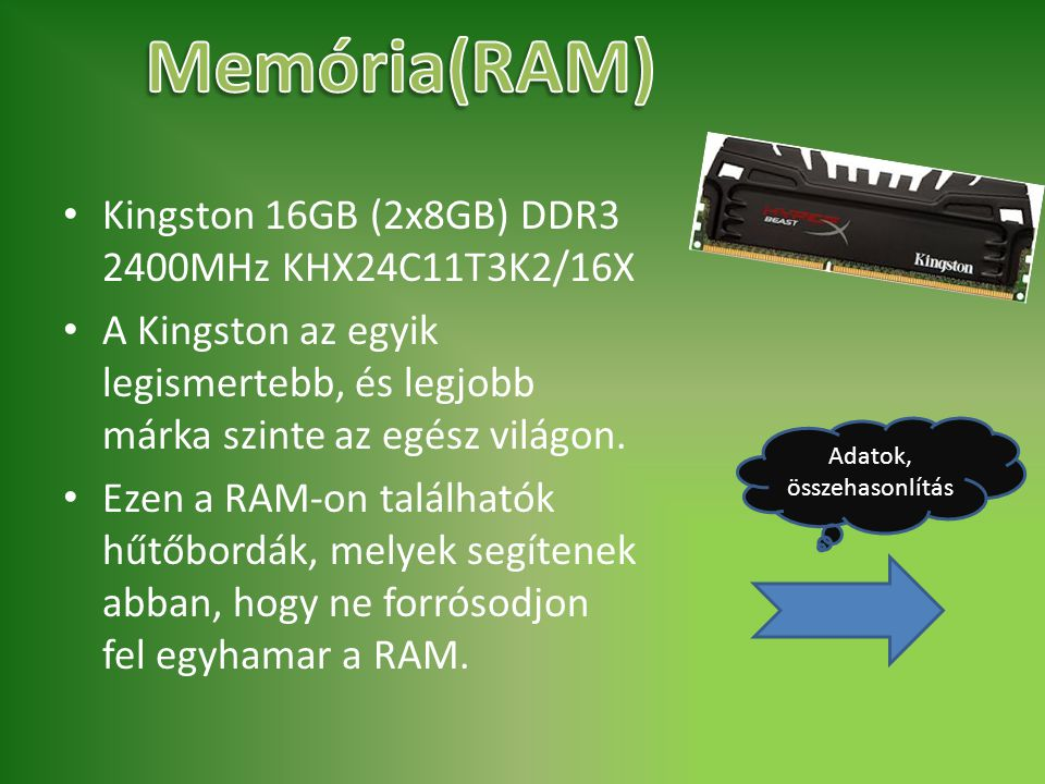 Memória(RAM) Kingston 16GB (2x8GB) DDR3 2400MHz KHX24C11T3K2/16X