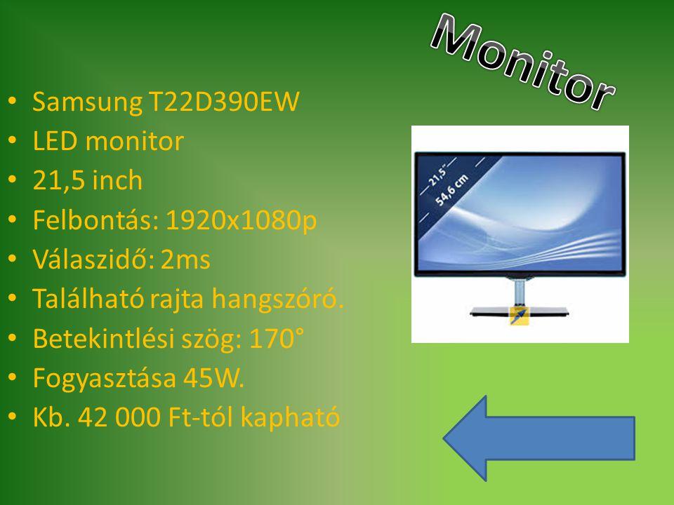 Monitor Samsung T22D390EW LED monitor 21,5 inch Felbontás: 1920x1080p