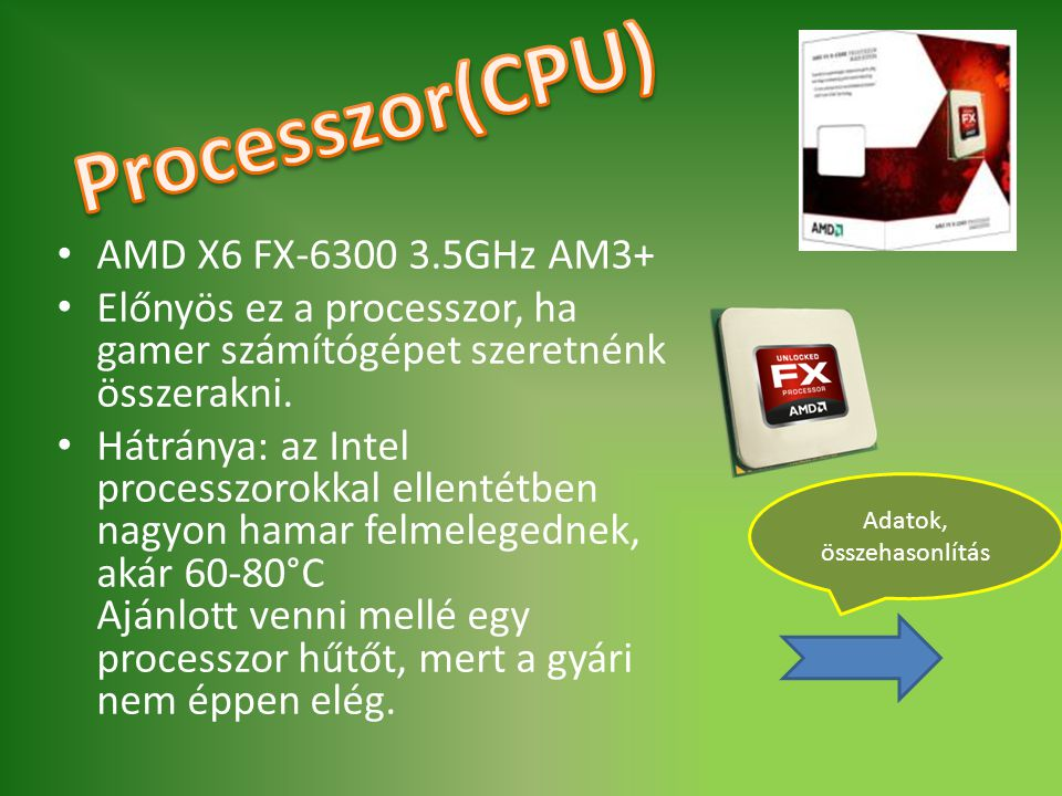 Processzor(CPU) AMD X6 FX-6300 3.5GHz AM3+