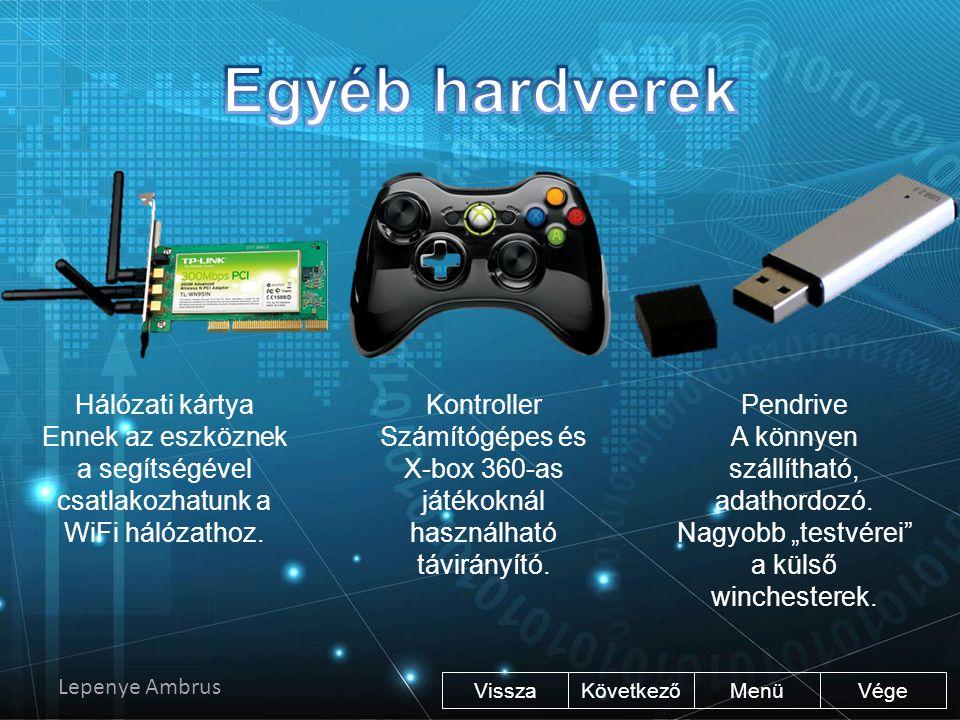 Egyéb hardverek Hálózati kártya