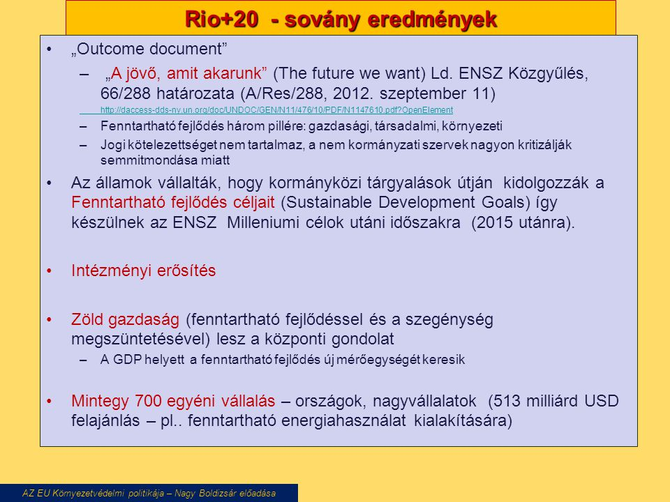 Rio+20 - sovány eredmények