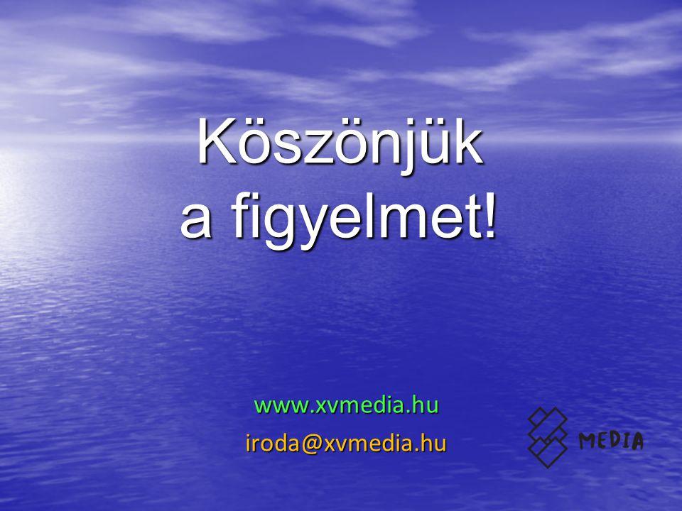 www.xvmedia.hu iroda@xvmedia.hu