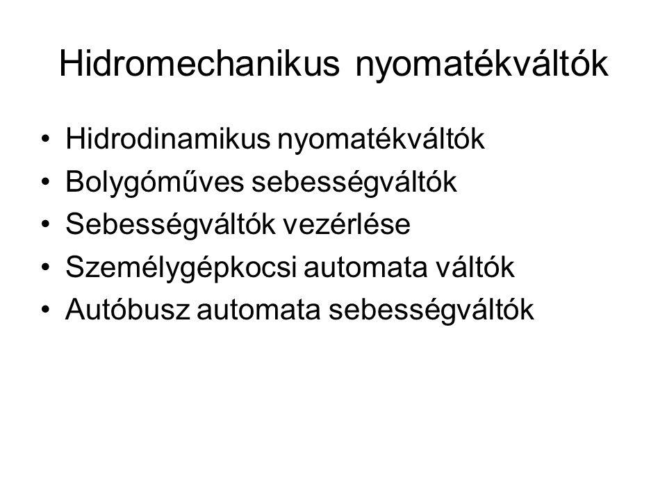 Hidromechanikus nyomatékváltók