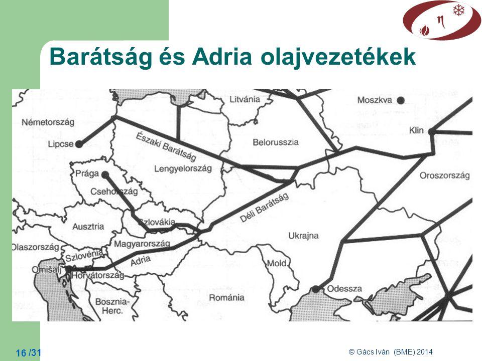 Barátság és Adria olajvezetékek
