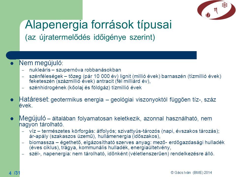 Alapenergia források típusai (az újratermelődés időigénye szerint)