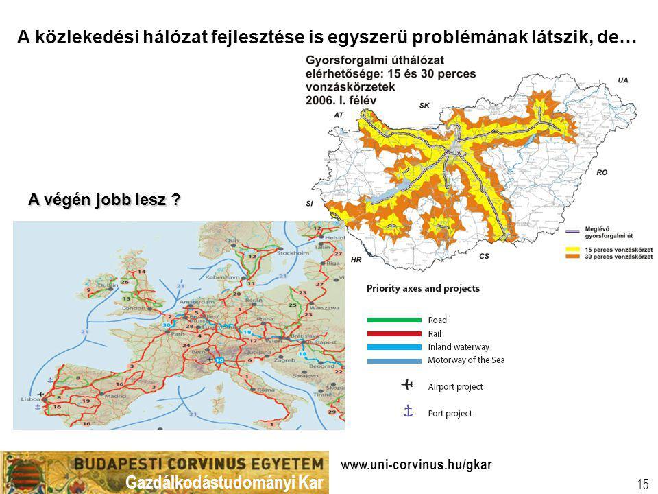 A közlekedési hálózat fejlesztése is egyszerü problémának látszik, de…