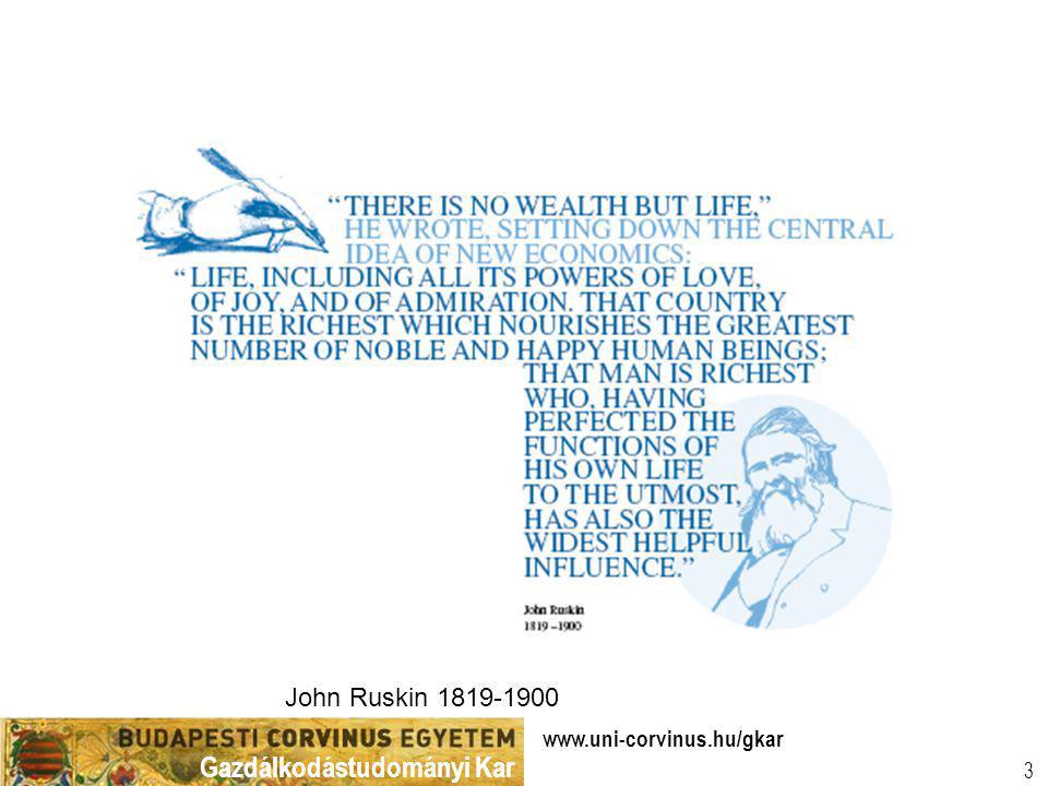 John Ruskin 1819-1900 www.uni-corvinus.hu/gkar