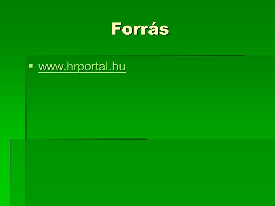 Forrás www.hrportal.hu