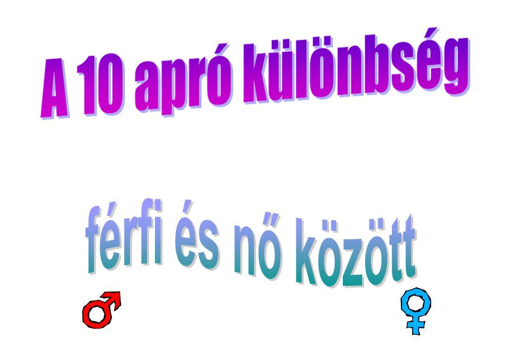 A 10 apró különbség férfi és nő között