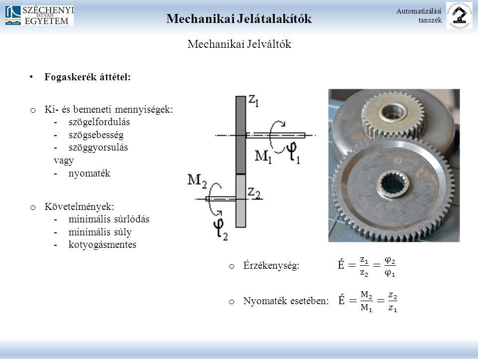 Mechanikai Jelátalakítók