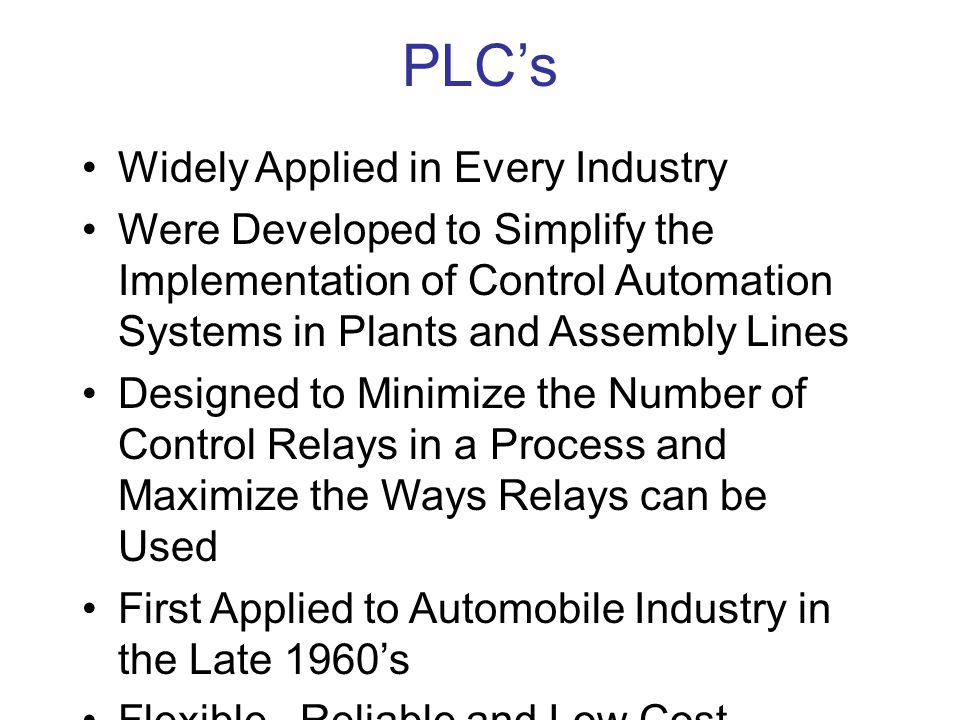PLC's Widely Applied in Every Industry