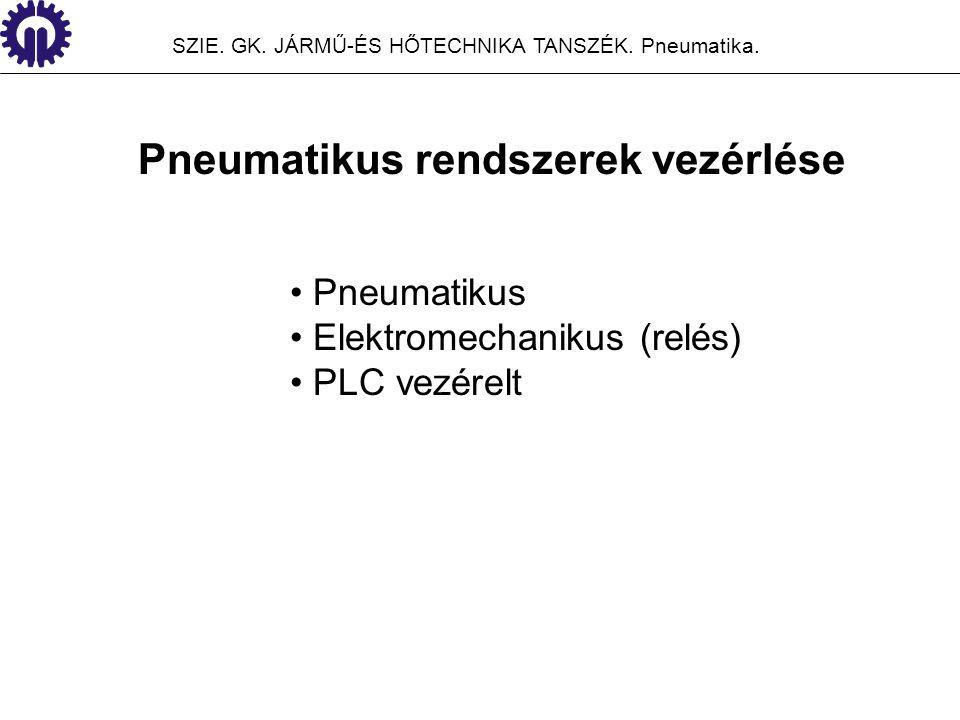 Pneumatikus rendszerek vezérlése