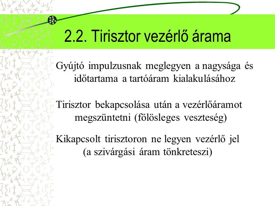 2.2. Tirisztor vezérlő árama