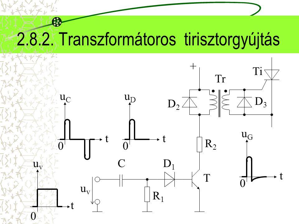 2.8.2. Transzformátoros tirisztorgyújtás