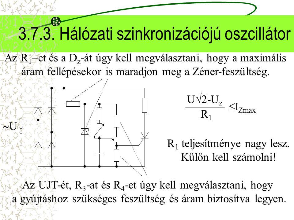 3.7.3. Hálózati szinkronizációjú oszcillátor