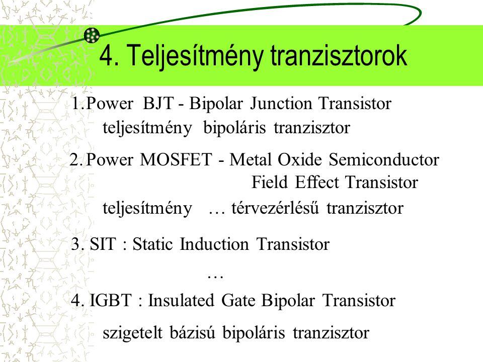 4. Teljesítmény tranzisztorok