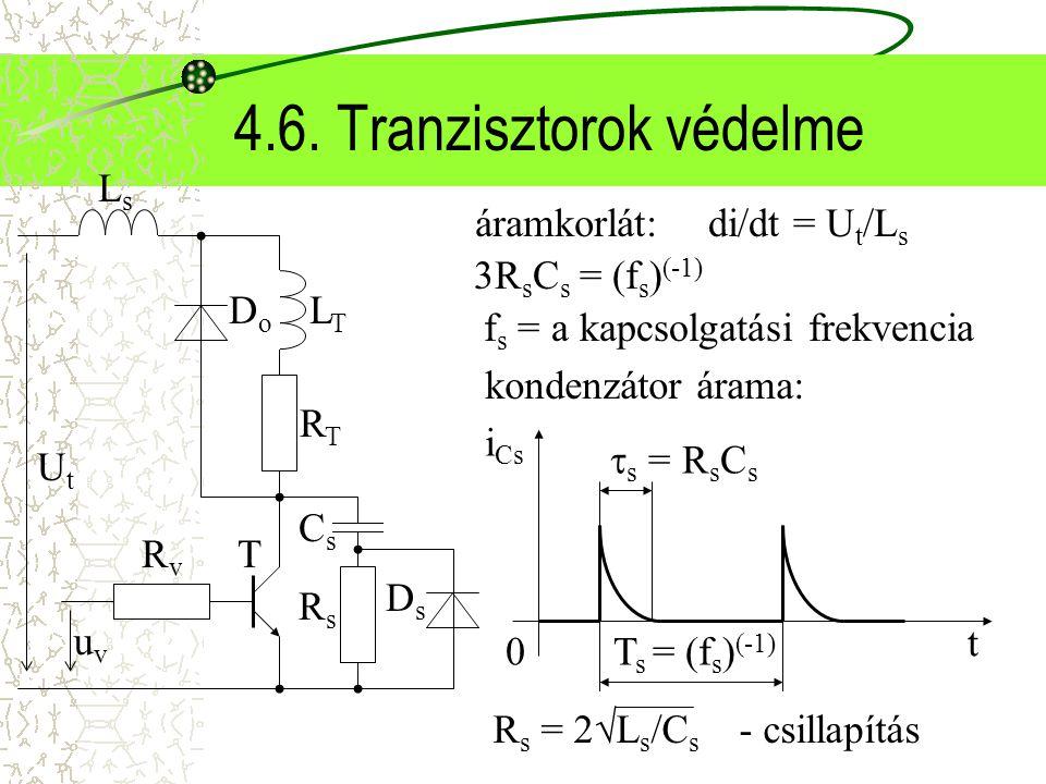 4.6. Tranzisztorok védelme