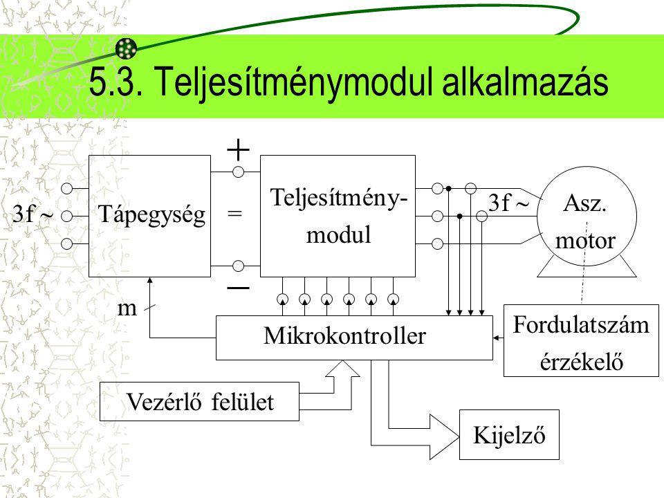 5.3. Teljesítménymodul alkalmazás