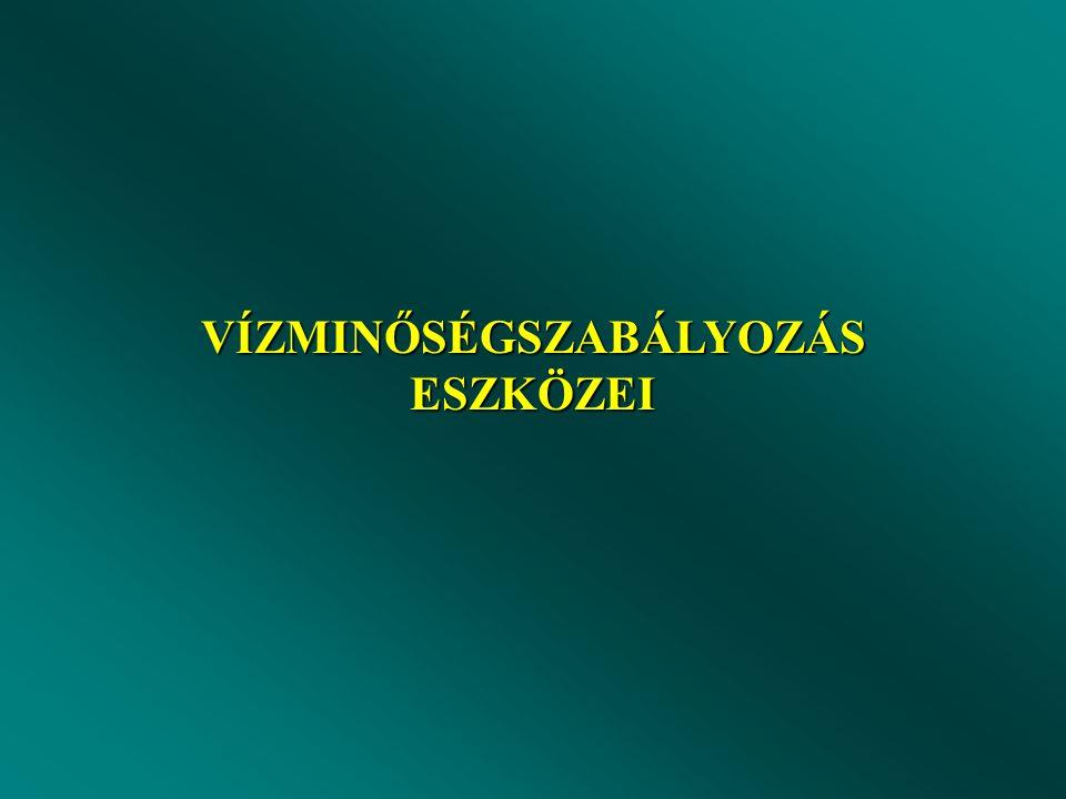 VÍZMINŐSÉGSZABÁLYOZÁS ESZKÖZEI