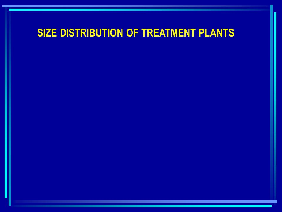 SIZE DISTRIBUTION OF TREATMENT PLANTS