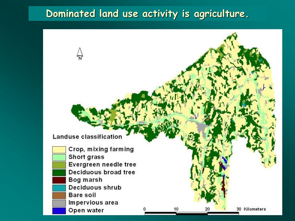 Dominated land use activity is agriculture.