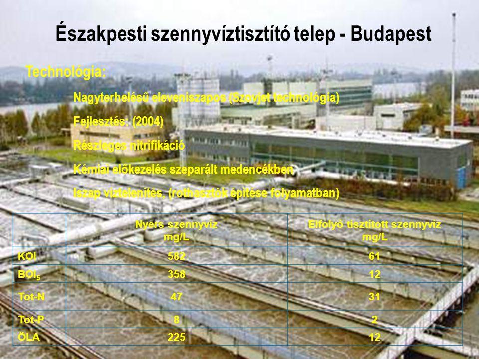Északpesti szennyvíztisztító telep - Budapest