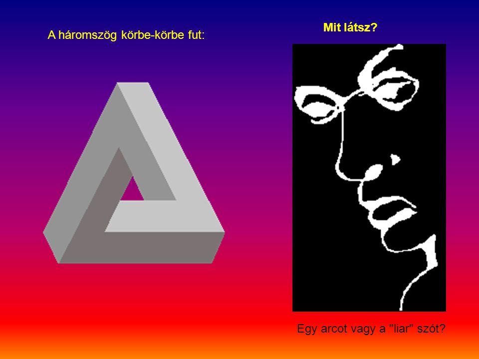 Mit látsz A háromszög körbe-körbe fut: Egy arcot vagy a liar szót