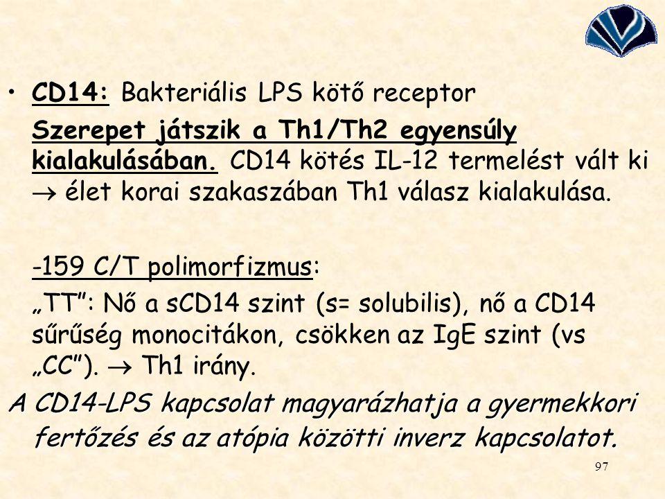 CD14: Bakteriális LPS kötő receptor