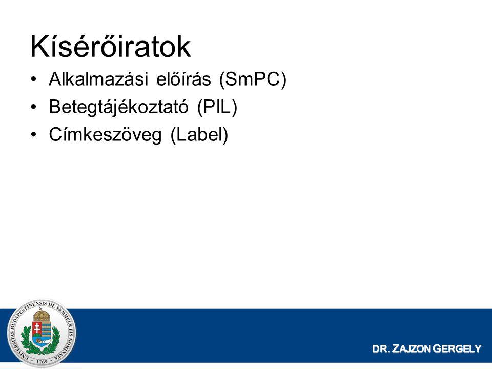 Kísérőiratok Alkalmazási előírás (SmPC) Betegtájékoztató (PIL)