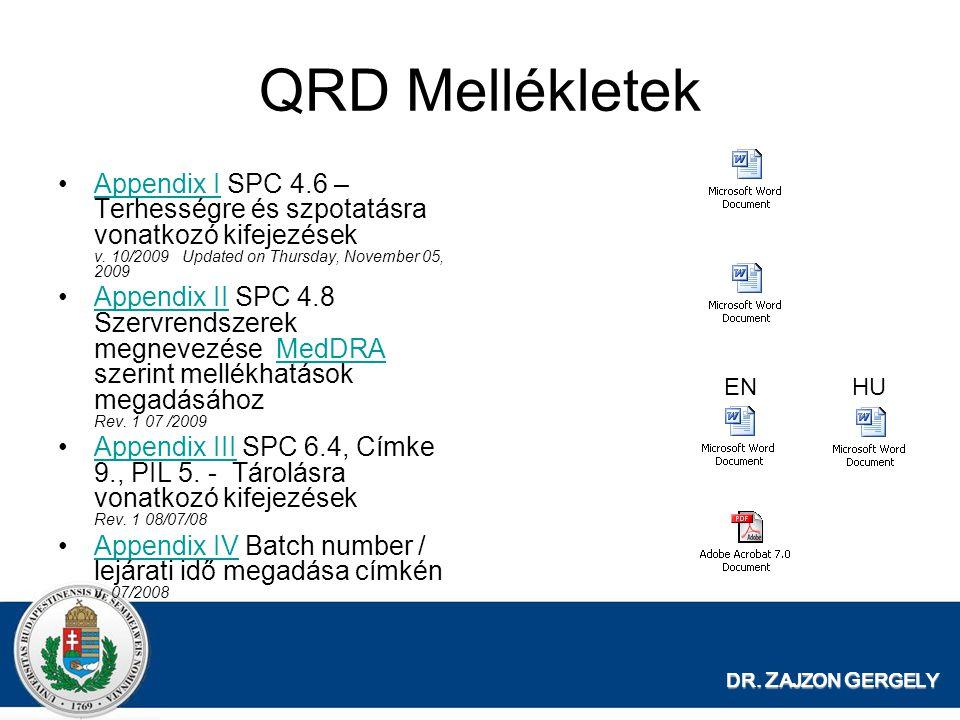 QRD Mellékletek Appendix I SPC 4.6 – Terhességre és szpotatásra vonatkozó kifejezések v. 10/2009 Updated on Thursday, November 05, 2009.