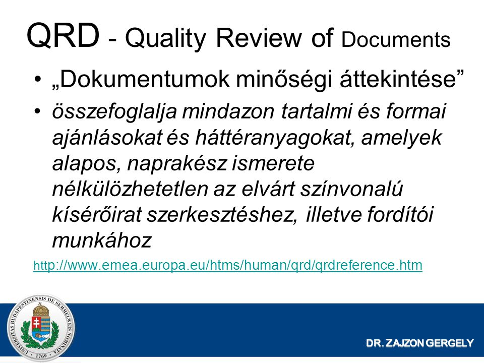 QRD - Quality Review of Documents