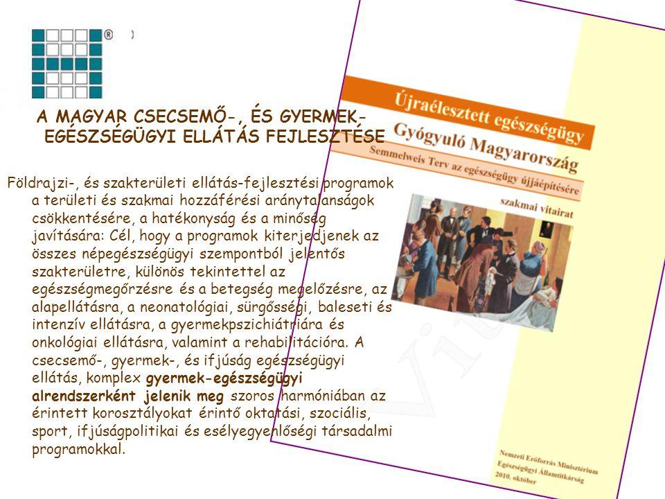 A magyar csecsemő-, és gyermek-egészségügyi ellátás fejlesztése