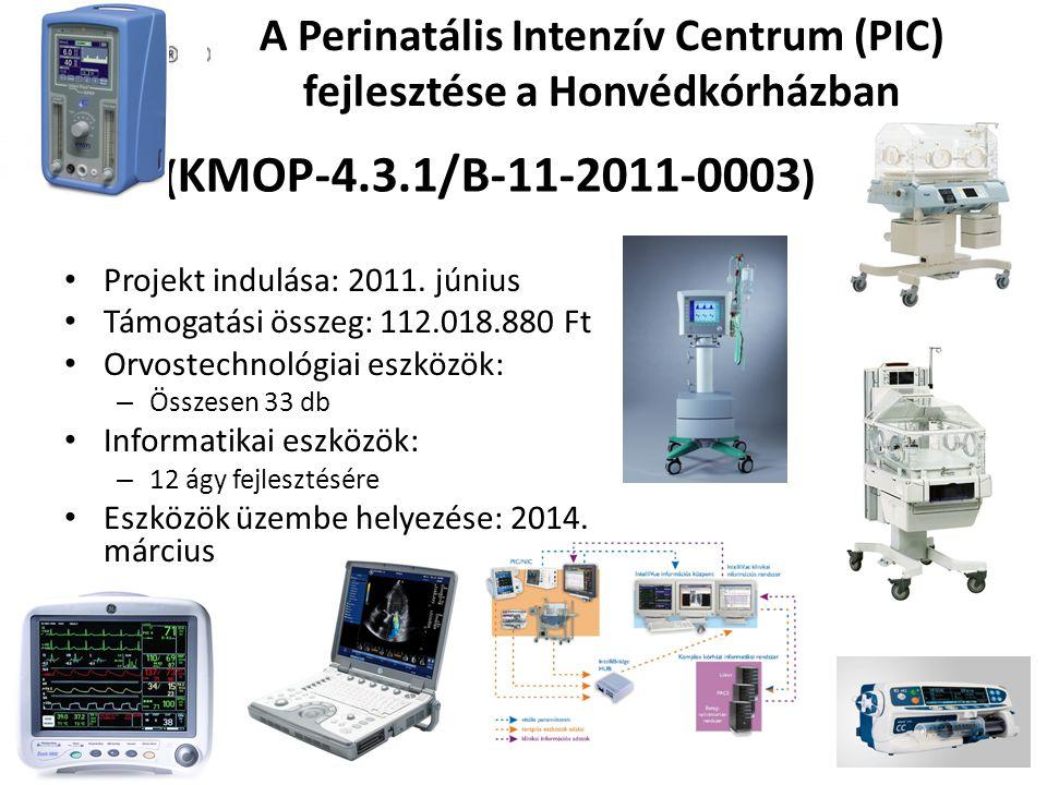 A Perinatális Intenzív Centrum (PIC) fejlesztése a Honvédkórházban