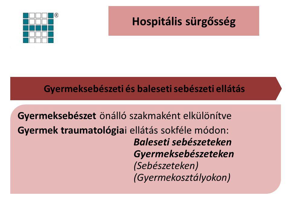 Gyermeksebészeti és baleseti sebészeti ellátás