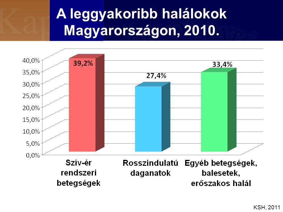 A leggyakoribb halálokok Magyarországon, 2010.