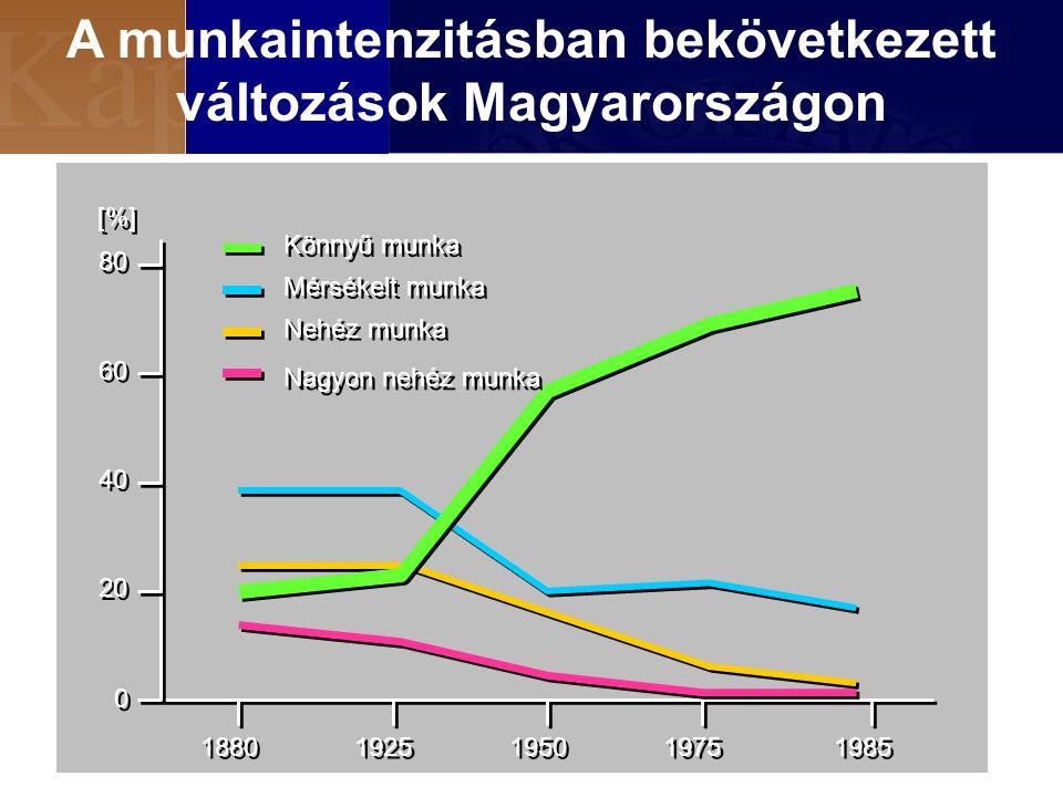 A munkaintenzitásban bekövetkezett változások Magyarországon