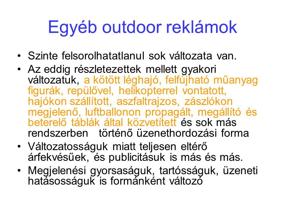Egyéb outdoor reklámok
