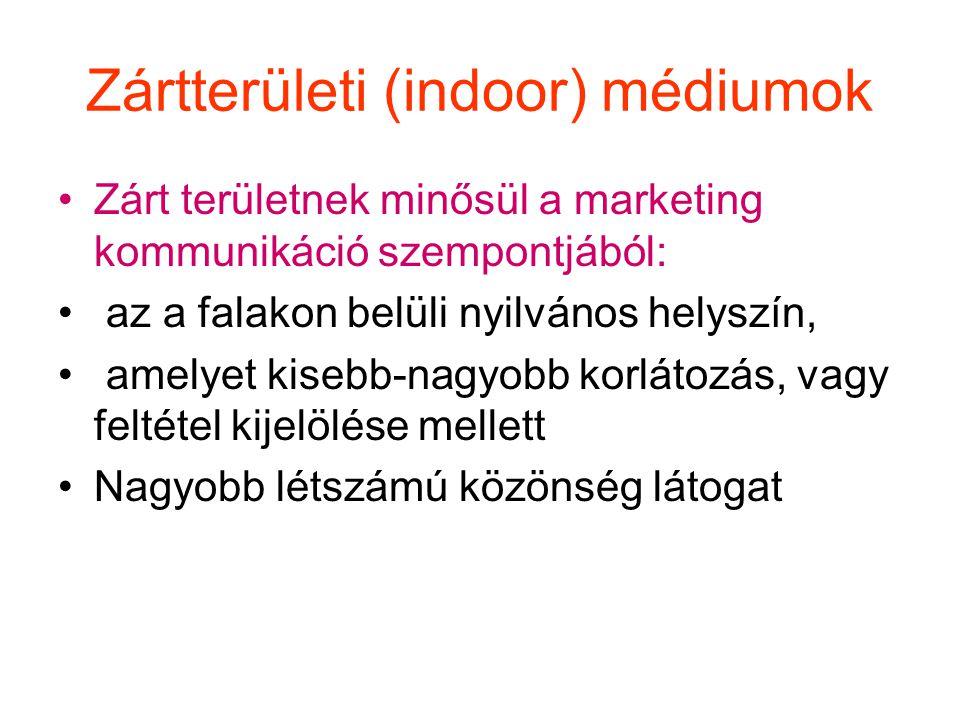 Zártterületi (indoor) médiumok