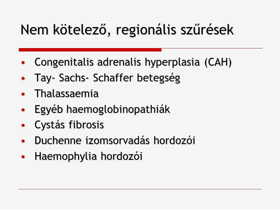 Nem kötelező, regionális szűrések