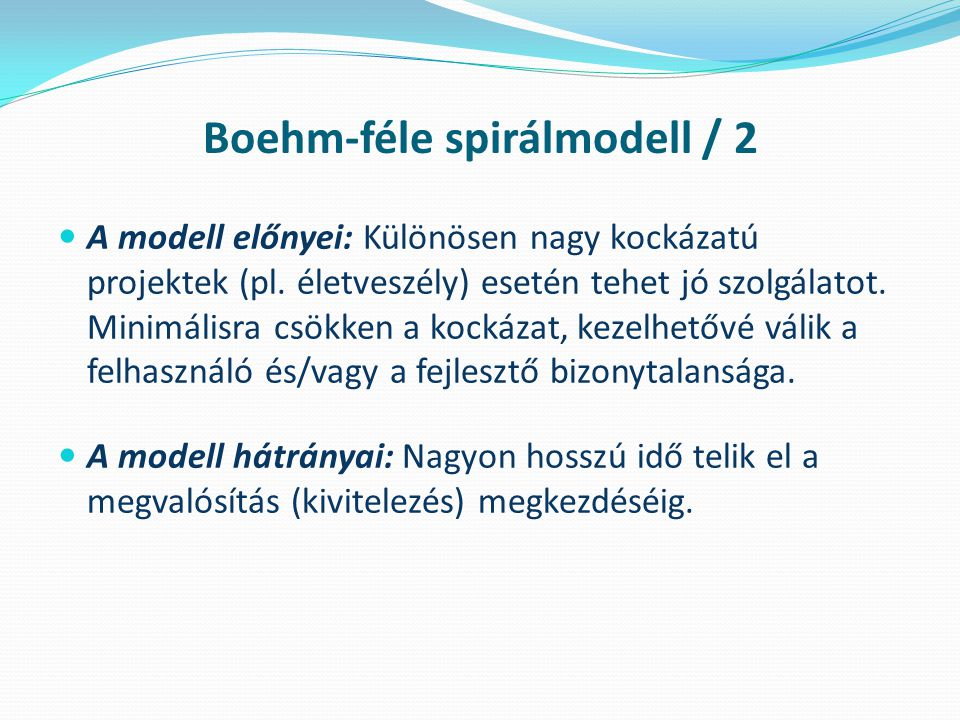 Boehm-féle spirálmodell / 2