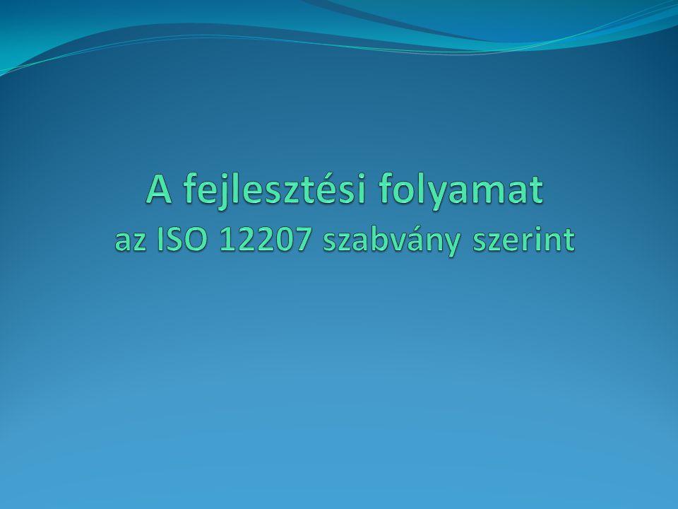 A fejlesztési folyamat az ISO 12207 szabvány szerint
