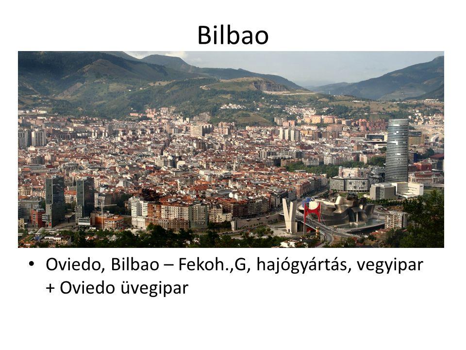 Bilbao Oviedo, Bilbao – Fekoh.,G, hajógyártás, vegyipar + Oviedo üvegipar