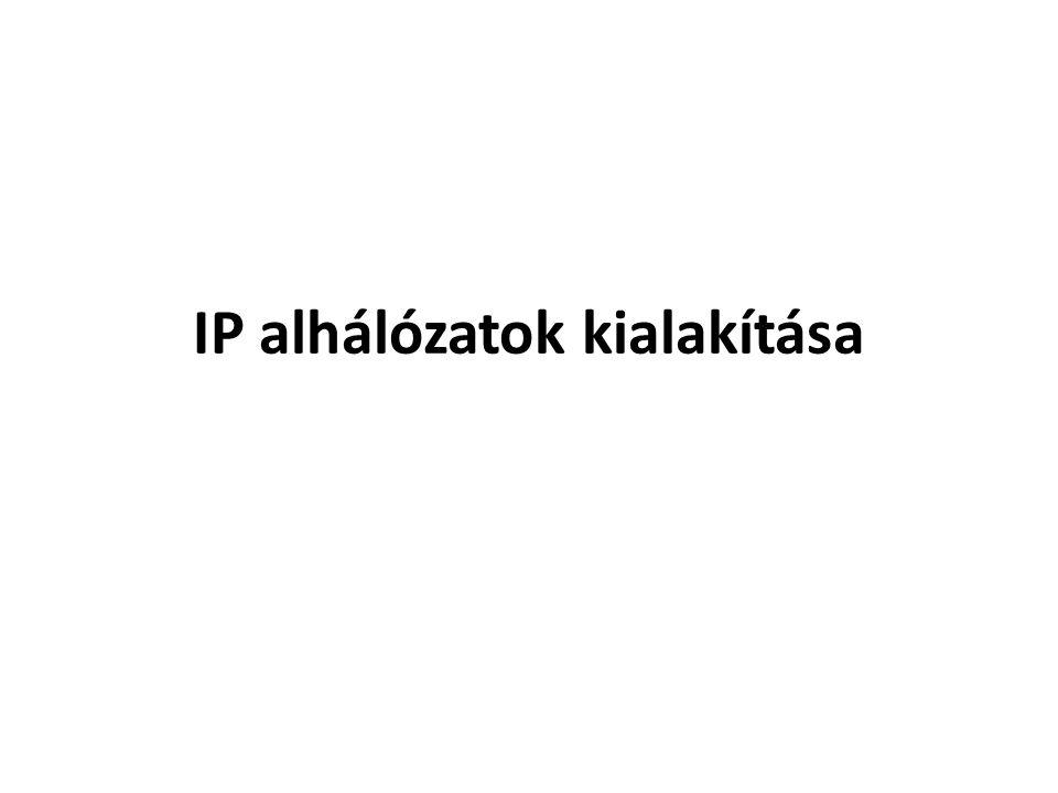 IP alhálózatok kialakítása
