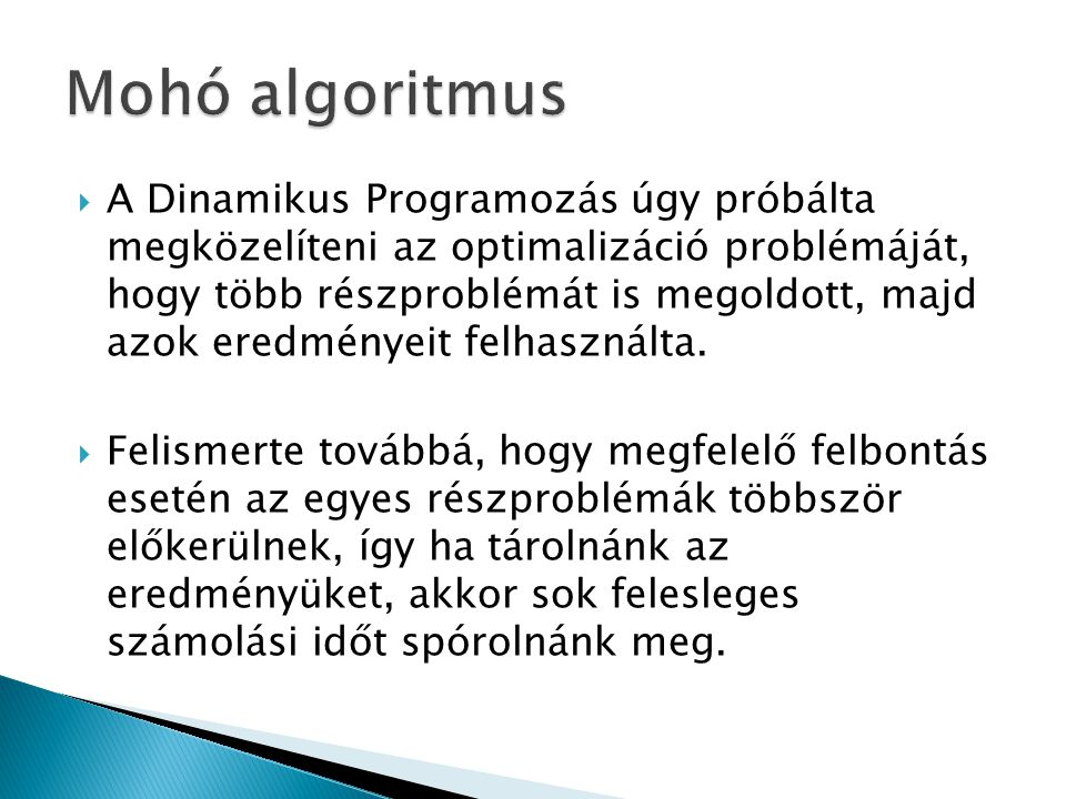 Mohó algoritmus