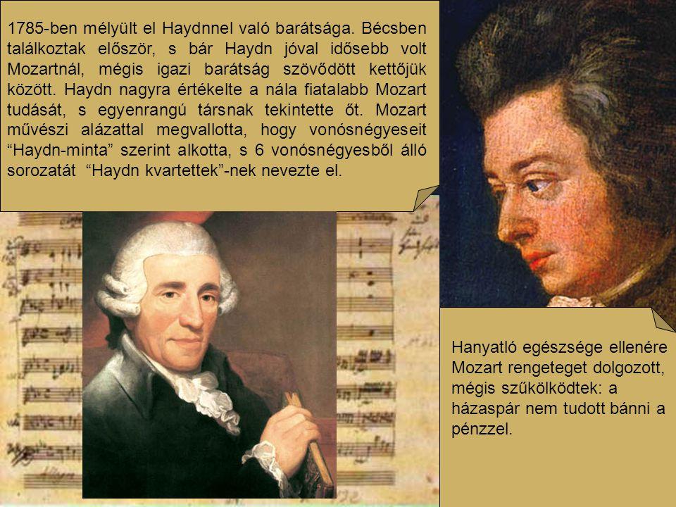 Tanítványokat is fogadott, növendéke volt többek között a fiatal Beethoven is. A fiatal zeneszerzõ tizenhat évesen Bécsben kereste föl Mozartot, s kérte, hallgassa meg zongorajátékát, s fogadja őt tanítványának. Mozart kezdetben nem tulajdonított jelentõséget a bozontos hajj fiatalembernek . De rögtönző, variáló képességét megismerve így szólt zenésztársaihoz: