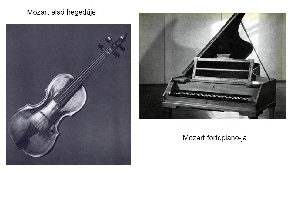 Mozart első hegedűje Mozart fortepiano-ja
