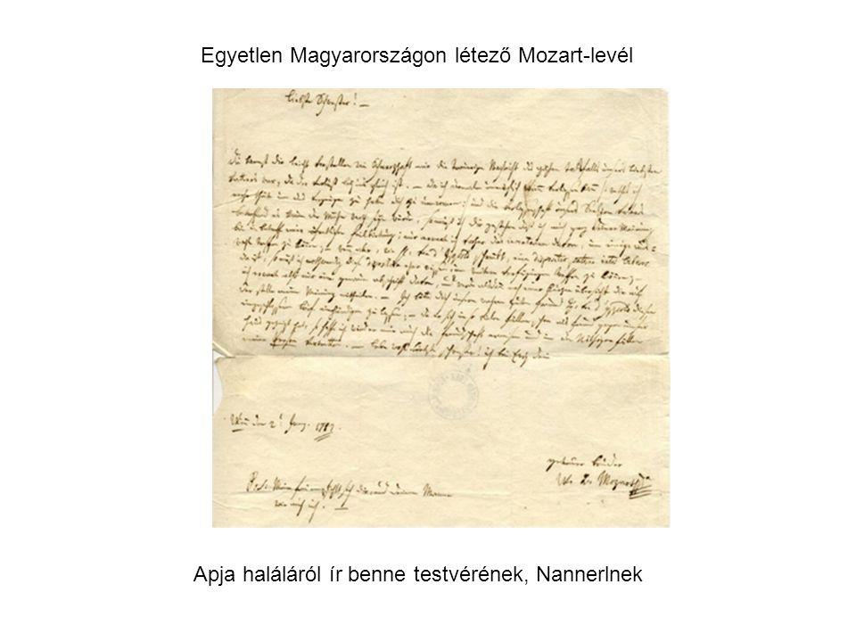 Egyetlen Magyarországon létező Mozart-levél