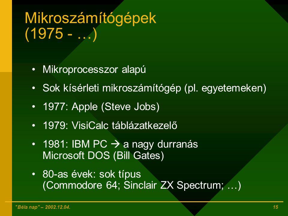 Mikroszámítógépek (1975 - …)