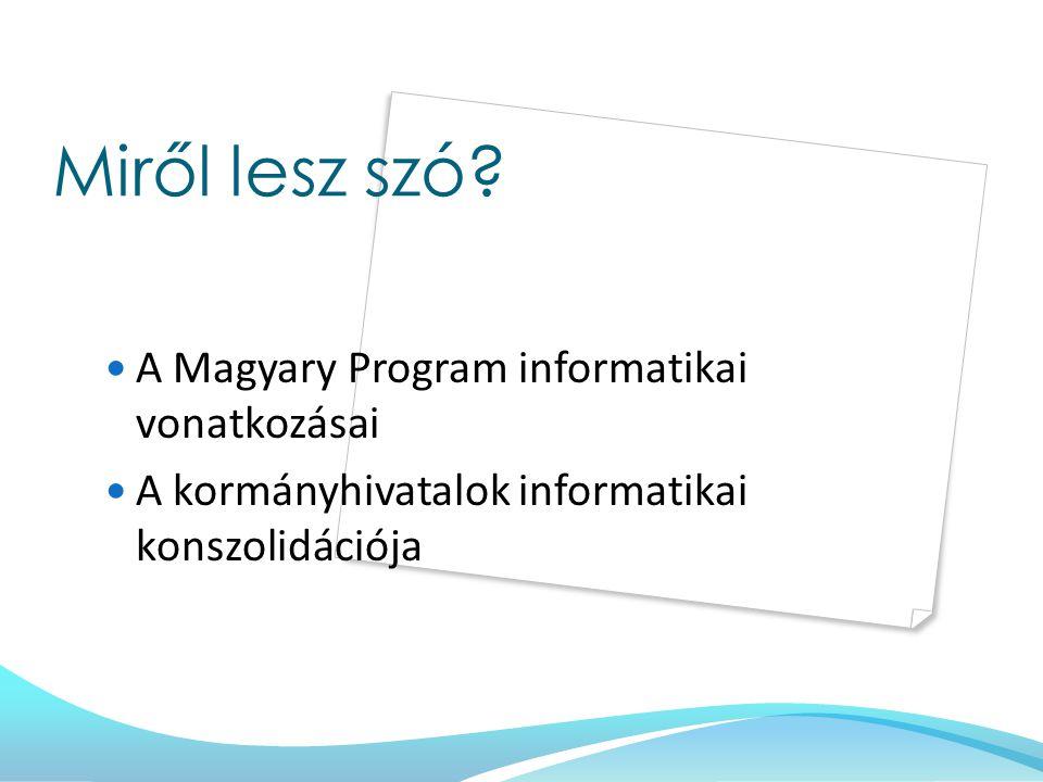 Miről lesz szó A Magyary Program informatikai vonatkozásai